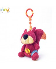Niny 700017 Soft pendant toy - Cute squirrel for kids 0+ years (24cm)
