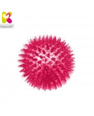 KeyCraft GL134 Flashing Spikey Air rubber massage Ball for fun (diam. 8cm) for kids 1+ year Pink