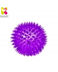 KeyCraft GL134 Flashing Spikey Air rubber massage Ball for fun (diam. 8cm) for kids 1+ year Violet