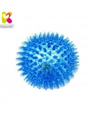 KeyCraft GL134 Flashing Spikey Air rubber massage Ball for fun (diam. 8cm) for kids 1+ year Blue