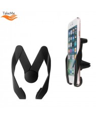 TakeMe M-Style Universal Car air vent Holder for Smartphone / Tablet PC / GPS till 11cm and thickness till 1cm Black