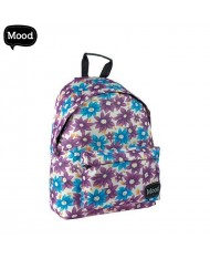 MOOD Sigma series Soft Backpack with 2 zipped compartments (30x40x15cm) Daisies