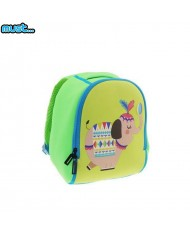 MUST Soft and light Backpack with Cute Elephant picture (20x10x26cm) for kids 3+ years Green