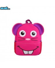 MUST 3D Mouse Soft and Cutest Backpack for kids 3+ years (30x22x10cm) Pink