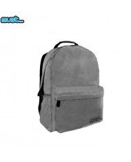 MUST Monochrome series Universal Ripstop Backpack with 2 zipped compartments (32x17x42cm) Grey