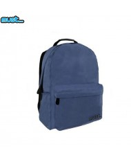 MUST Monochrome series Universal Ripstop Backpack with 2 zipped compartments (32x17x42cm) Blue