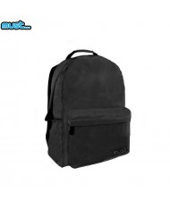 MUST Monochrome series Universal Ripstop Backpack with 2 zipped compartments (32x17x42cm) Black