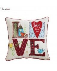 TESORO Home decoration Soft Cushion (30x30cm) Love design
