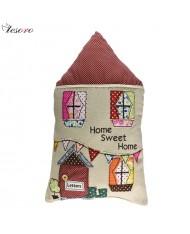 TESORO Home decoration Soft Cushion (28x38cm) Home shape
