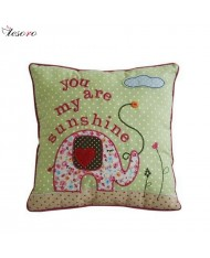 TESORO Home decoration Soft Cushion (30x30cm) Elephant design