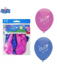 Peppa Pig Balloons set of 12pcs with popular heroe for kids 3+ years (6pcs Pink & 6pcs Blue)