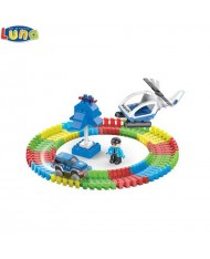 Luna Police series Glows in the dark Set of Flexi Construction blocks with vehicles and humans (89pcs) for kids 3+ years