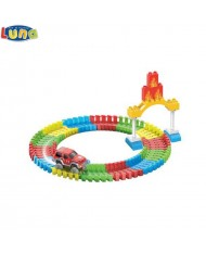 Luna Fire Control series Glows in the dark Set of Flexi Construction blocks with vehicles and humans (96pcs) for kids 3+ years