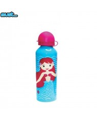 MUST BPA Free Metall bottle with Bright picture (500ml) for girls 3+ years Mermaid