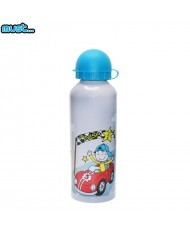MUST BPA Free Metall bottle with Bright picture (500ml) for boys 3+ years Grey