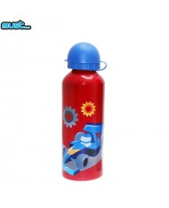MUST BPA Free Metall bottle with Bright picture (500ml) for boys 3+ years Red