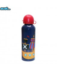MUST BPA Free Metall bottle with Bright picture (500ml) for boys 3+ years Blue