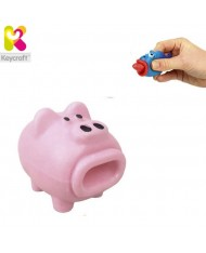 KeyCraft NV173 Funny Rubber Tongues roll out Pig (5cm) for kids 3+ years Light pink