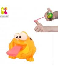 KeyCraft NV279 Funny Rubber Light Up Flying Frog (6cm) for kids 3+ years Orange