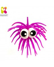 KeyCraft NV61TN Rubber Anti stress Funny Googly Eyes for kids 3+ years Violet