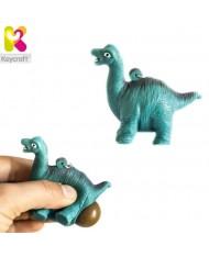 KeyCraft NV378 Funny Back Squeezy Dinosaur Anti-stress Keyring 5.5cm Blue