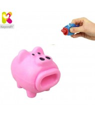 KeyCraft NV173 Funny Rubber Tongues roll out Pig (5cm) for kids 3+ years Pink