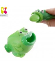 KeyCraft NV173 Funny Rubber Tongues roll out Frog (5cm) for kids 3+ years Light green