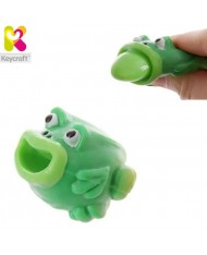 KeyCraft NV173 Funny Rubber Tongues roll out Frog (5cm) for kids 3+ years Green