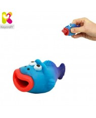 KeyCraft NV173 Funny Rubber Tongues roll out Fish (5cm) for kids 3+ years Blue