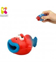 KeyCraft NV173 Funny Rubber Tongues roll out Fish (5cm) for kids 3+ years Red