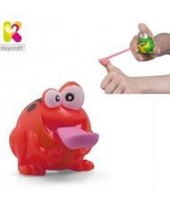 KeyCraft NV279 Funny Rubber Light Up Flying Frog (6cm) for kids 3+ years Red