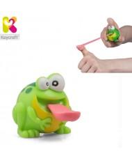 KeyCraft NV279 Funny Rubber Light Up Flying Frog (6cm) for kids 3+ years Green
