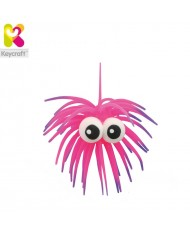KeyCraft NV61TN Rubber Anti stress Funny Googly Eyes for kids 3+ years Pink