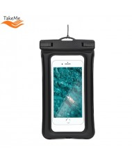 TakeMe Universal Waterproof Air Case with strap (10.5x18.5cm) for mobile devices till 6 inch screen Black