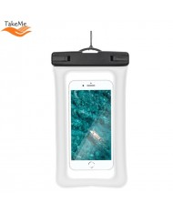 TakeMe Universal Waterproof Air Case with strap (10.5x18.5cm) for mobile devices till 6 inch screen White