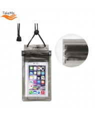 TakeMe Universal Waterproof Slim Case with zipper closing (10.5x18.5cm) for mobile devices till 6 inch screen Black