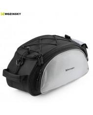 Wozinsky Bicycle / Bike Pannier rear trunk bag (40x21x16cm) with shoulder strap (13L) Black