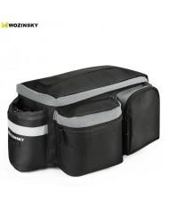 Wozinsky Bicycle / Bike Pannier rear trunk bag (28x16x14cm) with shoulder strap and Bottle pocket (6L) Black