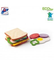 Woody 91171 Set to Create your own sandwich (20pcs) for kids 18m+
