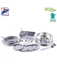 Woody 91877 Kitchen metal baking set (16pcs) with cake mold for kids 3+ years