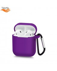TakeMe Ultra-thin Soft Silicone protective case for AirPods Violet