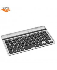 TakeMe Universal Aluminum Bluetooth 3.0 Keyboard for Mobile Phone & Tablet PC (till 7 inches) with stand (Android / iOS / Windows) Silver