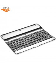 TakeMe Universal Aluminum Bluetooth 3.0 Keyboard for Mobile Phone & Tablet PC (till 9.7 inches) with stand (Android / iOS / Windows) Silver