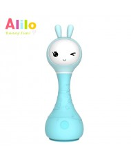 Alilo R1 EE Smart Rabbit - Sleep Melody - Estonian Story Telling Toy for Baby (0+ months) Night Led Blue