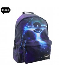 MOOD Soft & Durable Backpack with 2 zipped compartments (32x43x19cm) UFO Mood