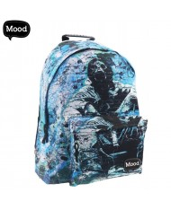 MOOD Soft & Durable Backpack with 2 zipped compartments (32x43x19cm) Street Artist Mood