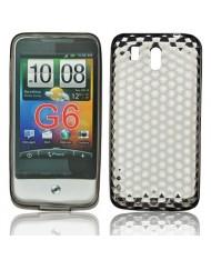 Forcell HTC Legend Silicone Back Case Lux Transparent/Black