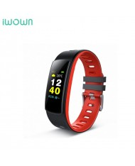 iWOWN I6 HR С Fitness Tracker - 2in1 Heart Monitor and Smart Watch Bracelet Oled Display & Touch Panel Red