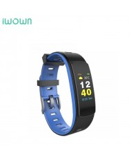 iWOWN I6 HR С Fitness Tracker - 2in1 Heart Monitor and Smart Watch Bracelet Oled Display & Touch Panel Blue