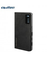 Qoltec Power Bank 10000mAh External Battery with LCD 2x USB 5V 2.1A + Micro USB Cable Black